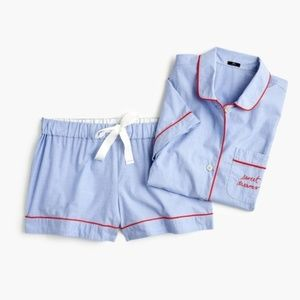 "NWT J. Crew Pajama Set in ""Sweet Dreams"" Large"